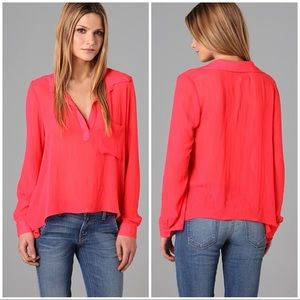 Rory Beca Jacob Trapeze Blouse in Coral XS